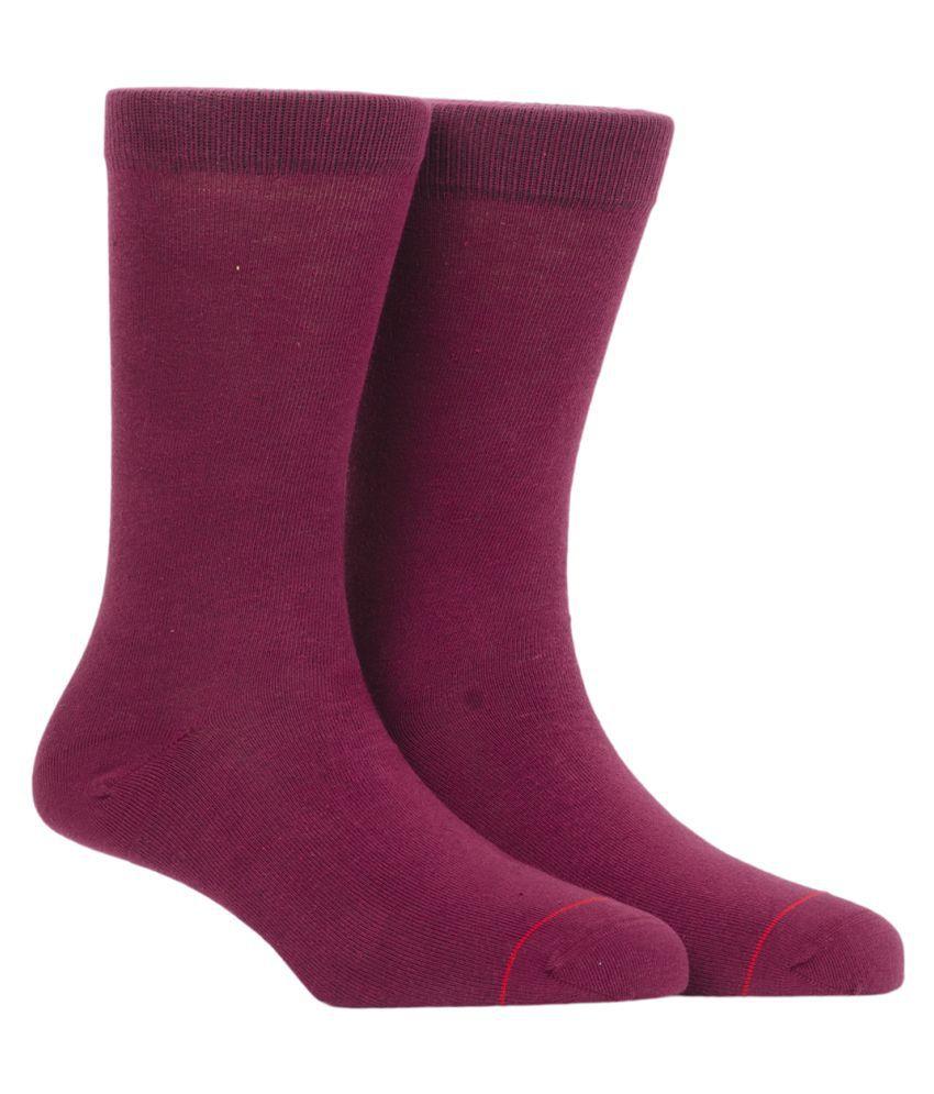 Soxytoes Red Casual Full Length Socks
