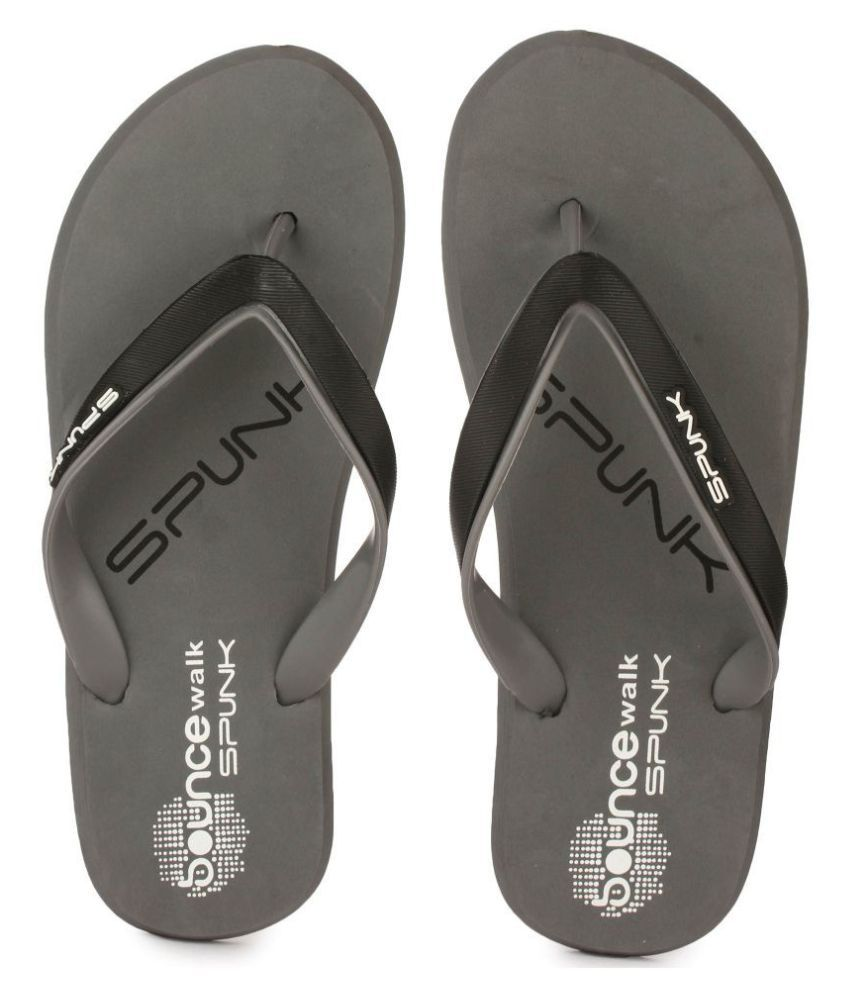 6c42767557cd Spunk Elvin Gray Daily Slippers Price in India- Buy Spunk Elvin Gray Daily Slippers  Online at Snapdeal