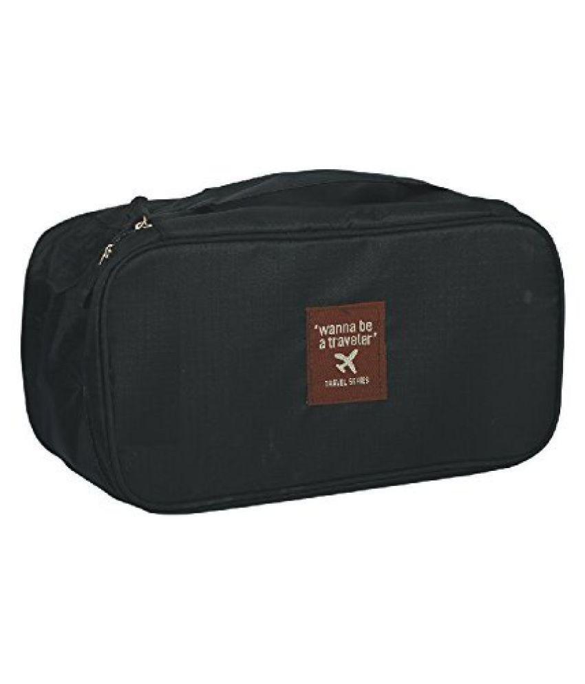Everbuy Black Travel Women's Storage Bag For Underwear Pouch