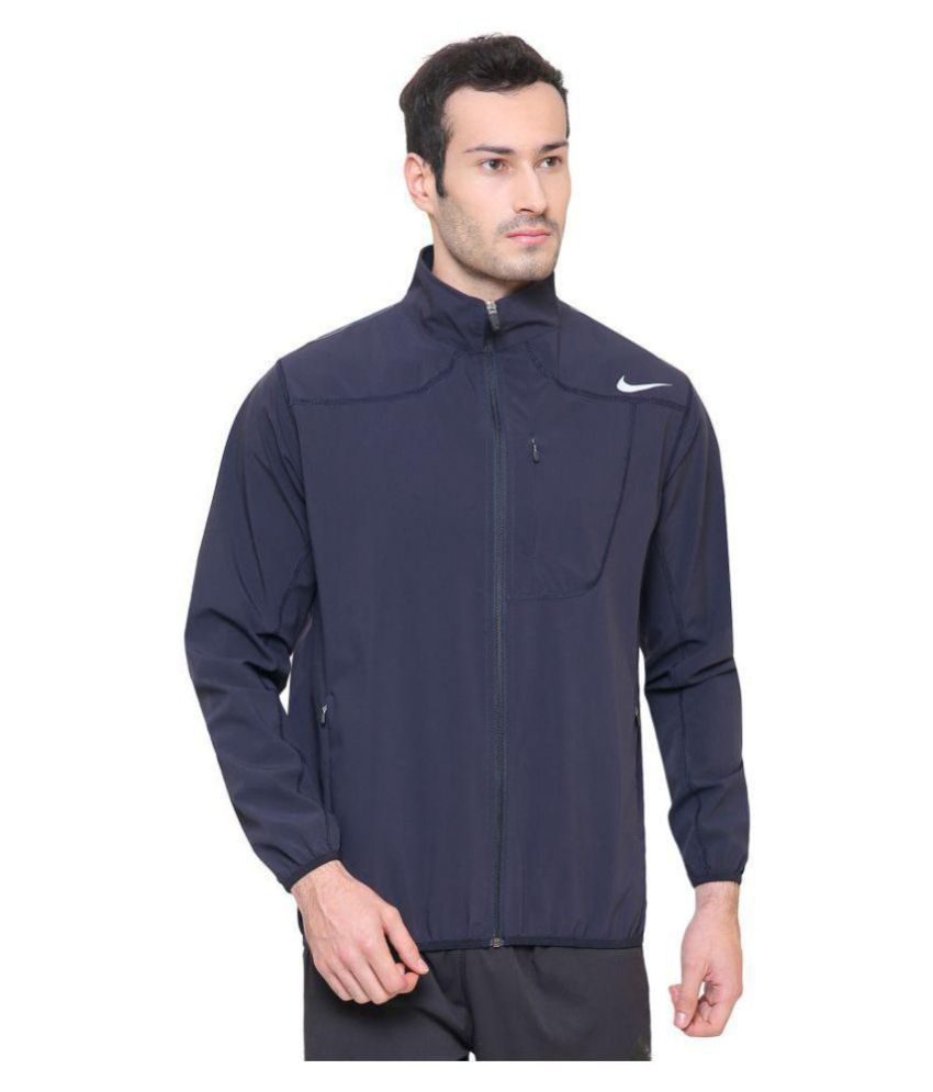 4c10f86d55fb Nike Navy Polyester Terry Jacket - Buy Nike Navy Polyester Terry ...