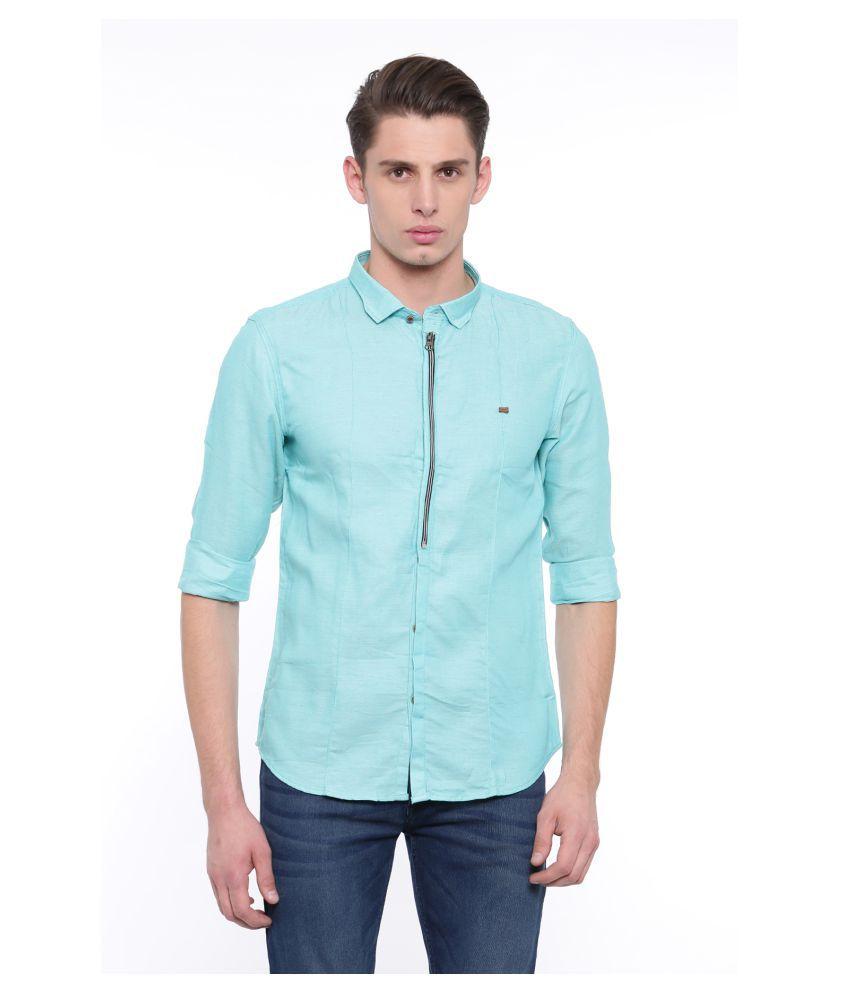 showoff Green Slim Fit Shirt