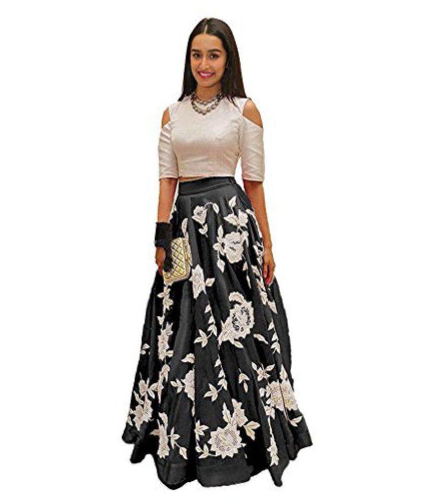 Aarna Fashion Cotton Black Gown Buy Aarna Fashion Cotton Black