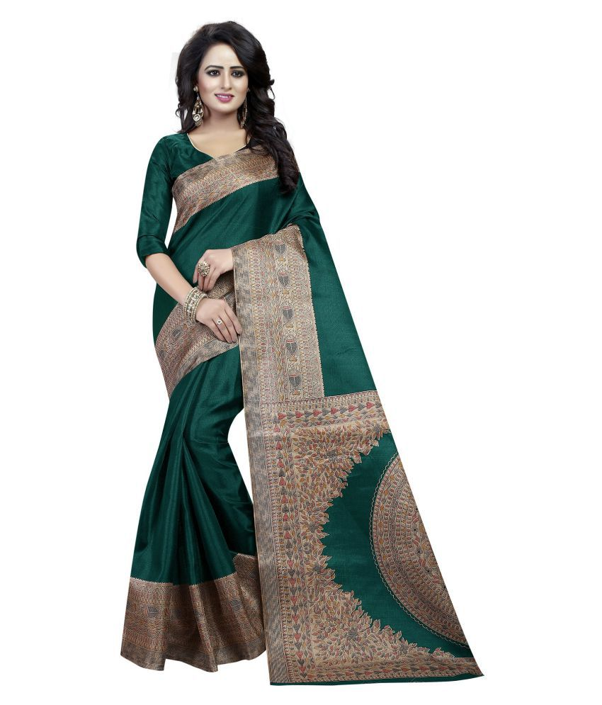 Mavani Green Cotton Silk Saree