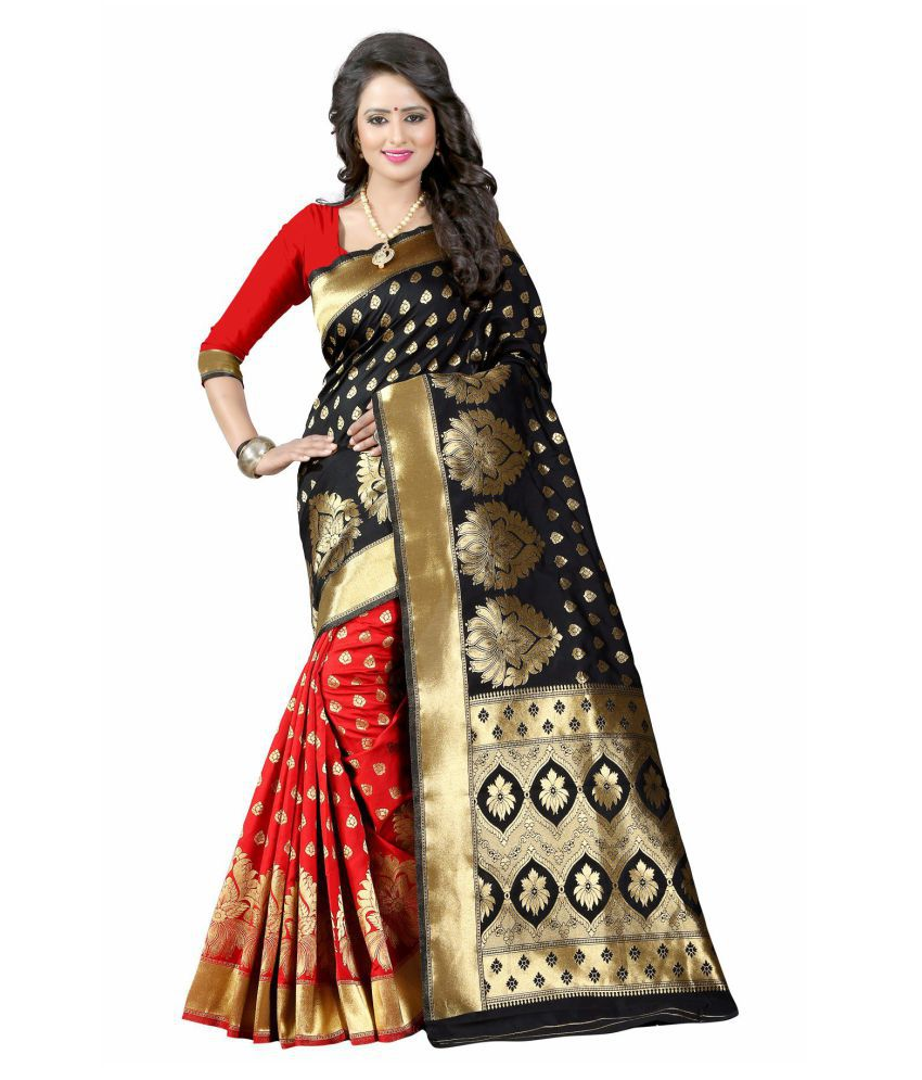 limozine creation Brown and Beige Banarasi Silk Saree