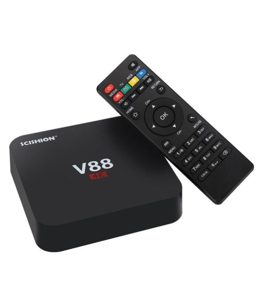 Buy Colour Wise SCISHION V88 4K KODI SMART TV ANDROID BOX Receiver