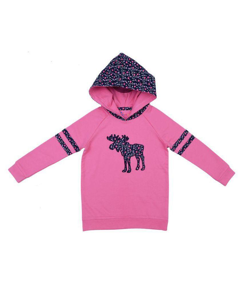 Ventra Girls Hood Moose Pink