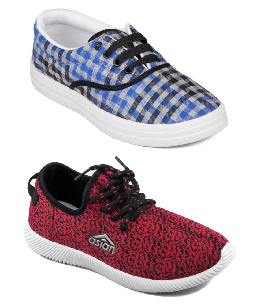 ASIAN Multi Color Casual Shoes Pack Of 2 Combos