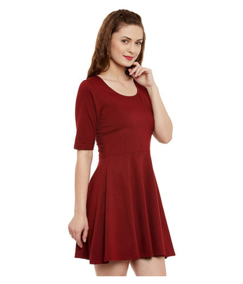 Miss Chase Cotton Maroon Dresses Miss Chase Cotton Maroon Dresses ... e0b381a7c