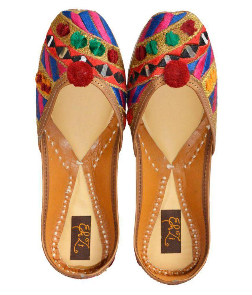 Ehzi Designs Multi Color Ethnic Footwear