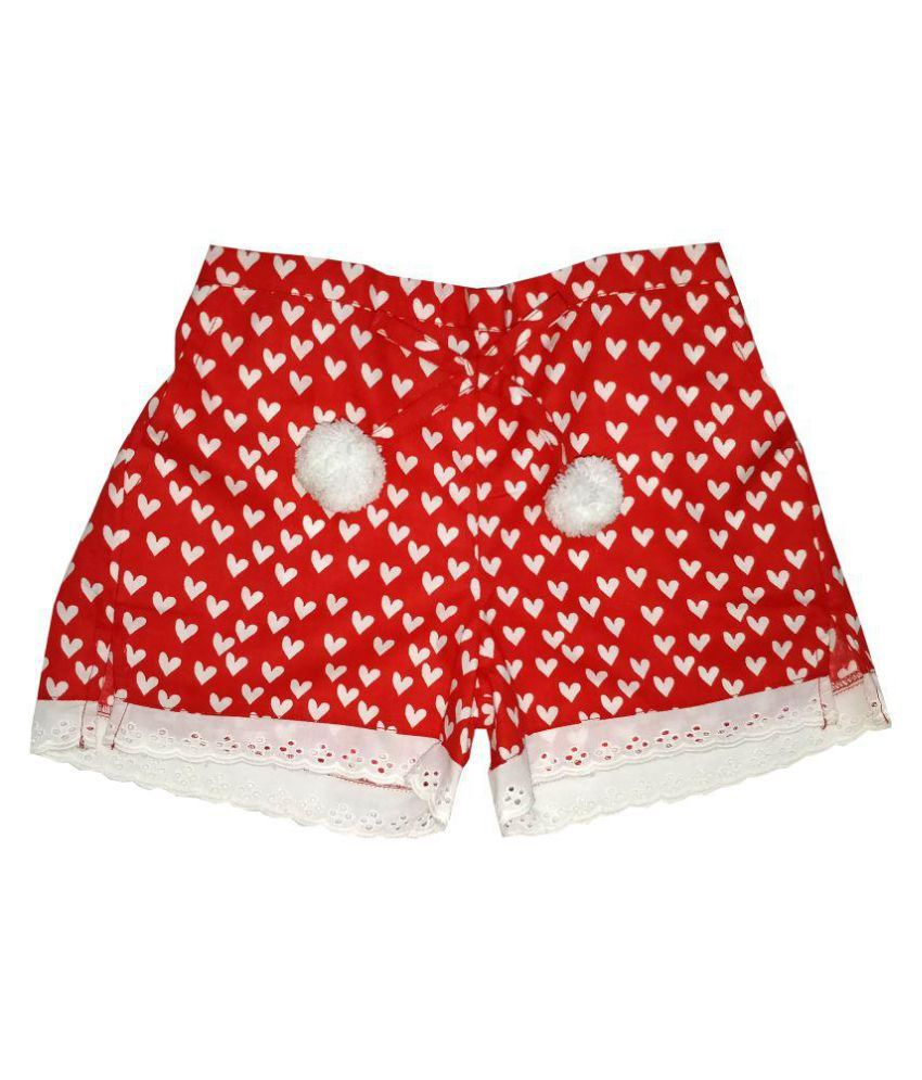 Always Kids Red Heart Daisy Shorts