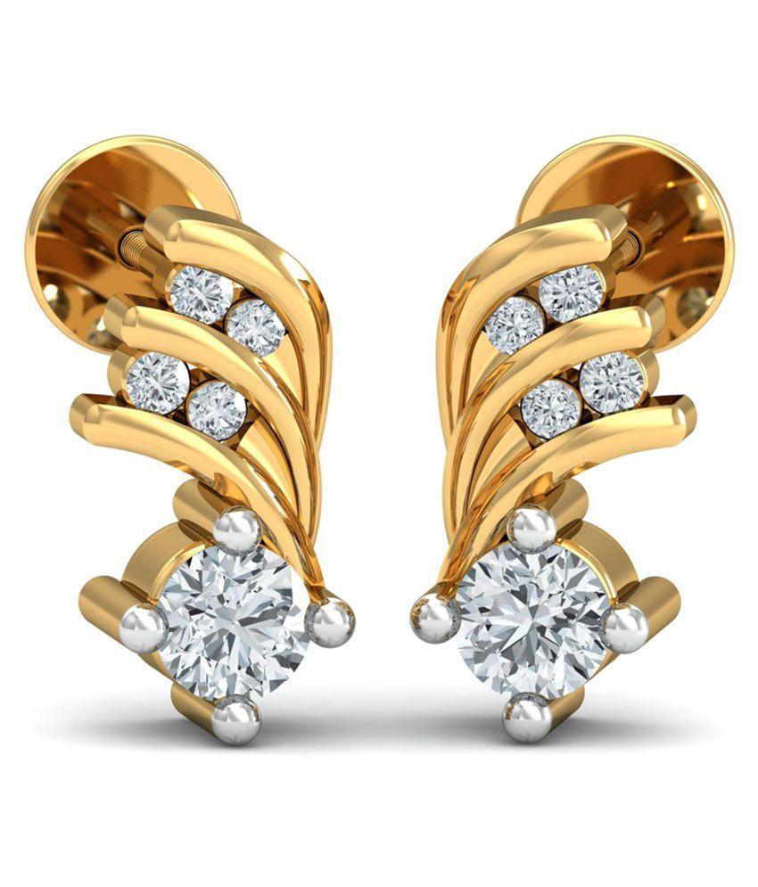 Kataria Jewellers 92.5 BIS Hallmarked Silver Diamond Studs