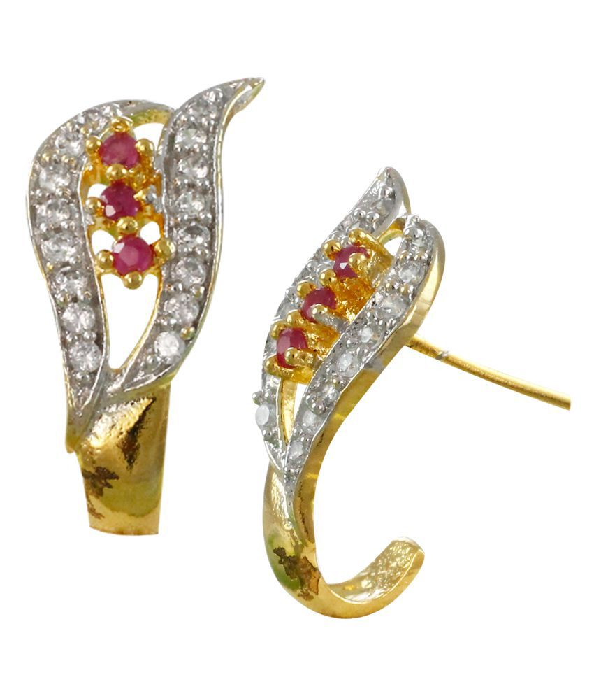 Zaveri Pearls Delicate Cubic Zirconia Stud Earring - ZPFK6234