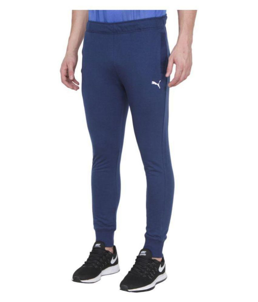 Puma Navy Polyster Trackpant