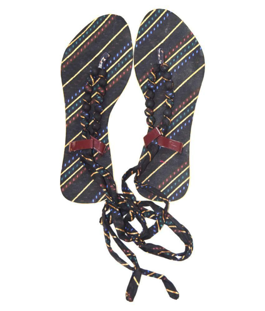 Magnus Black Ethnic Footwear