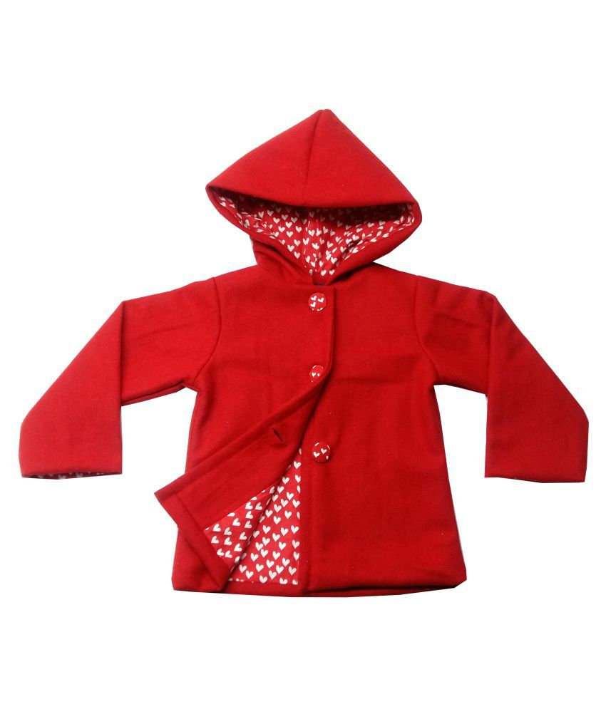 Always Kids Red Hooded Emma Coat