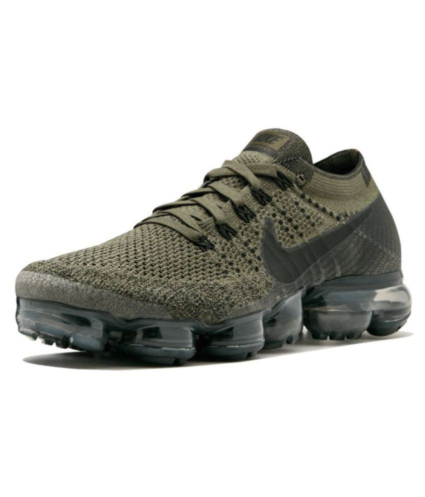 e7f106fcfd7b8b Nike AIR VAPORMAX FLYKNIT Green Running Shoes - Buy Nike AIR VAPORMAX  FLYKNIT Green Running Shoes Online at Best Prices in India on Snapdeal