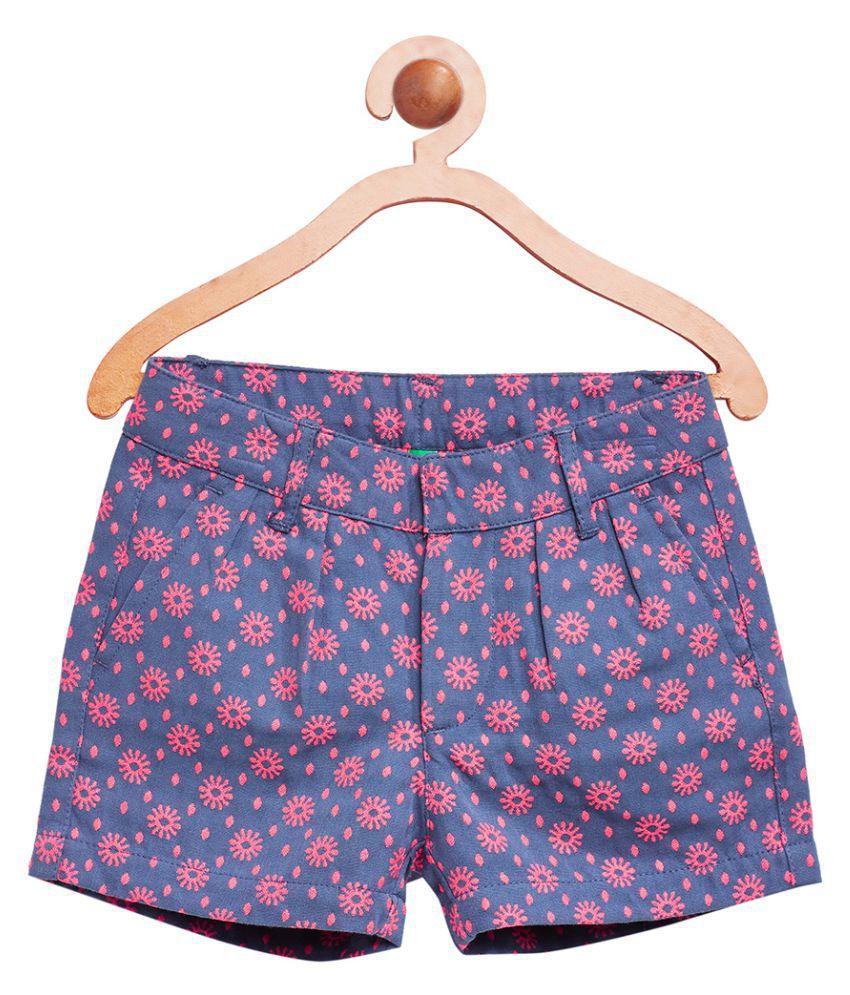 United Colors of Benetton Blue  Jacquard Shorts - 16A4WBOT0028I901XL