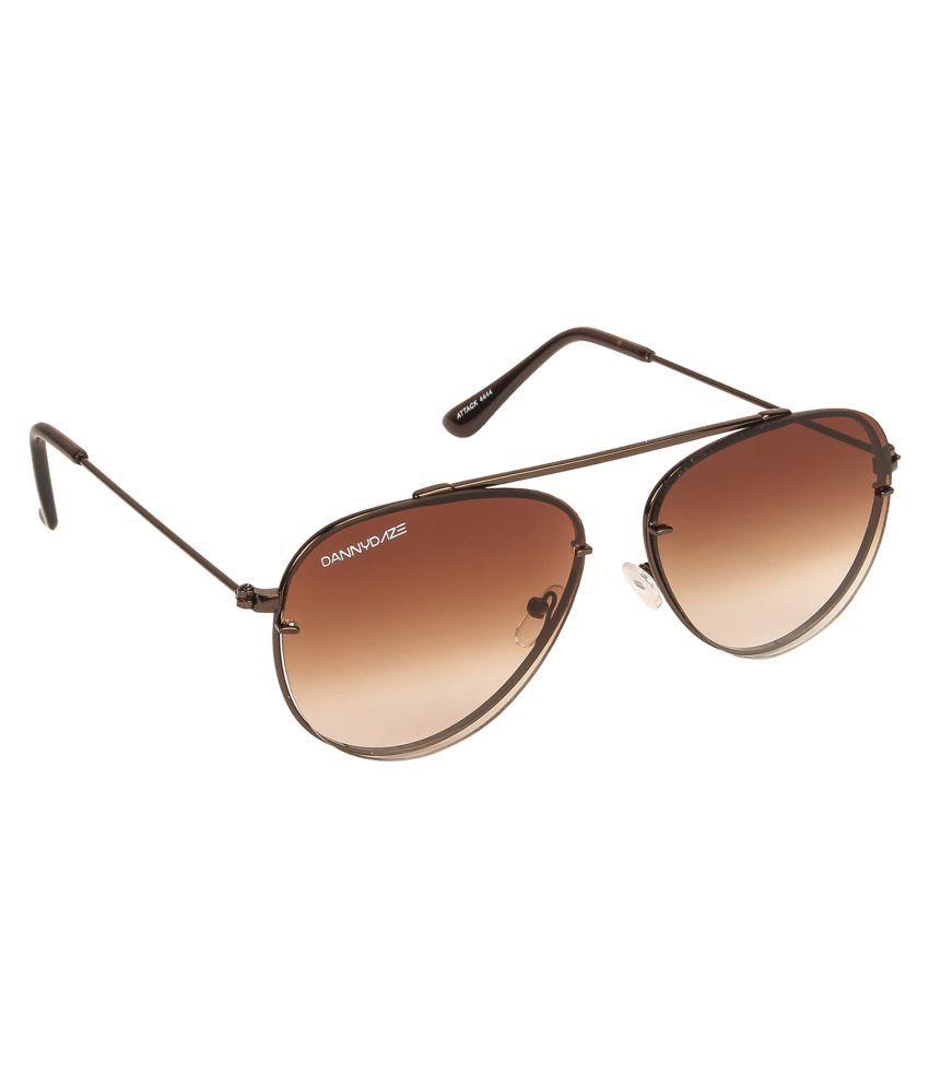 Danny Daze Brown Aviator Sunglasses ( D-4444-C4 )