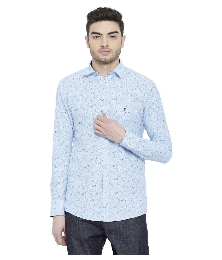 Duke Blue Slim Fit Shirt