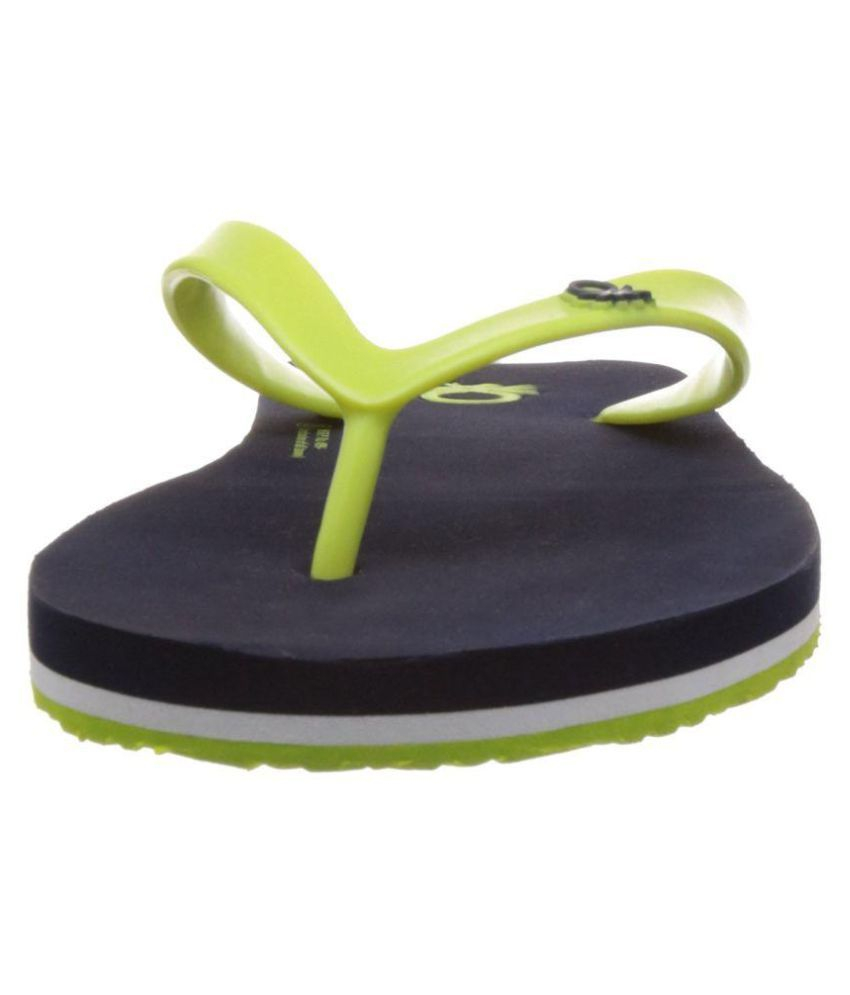 f555fb001 United Colors of Benetton Navylime Blue Daily Slippers Price in India- Buy  United Colors of Benetton Navylime Blue Daily Slippers Online at Snapdeal