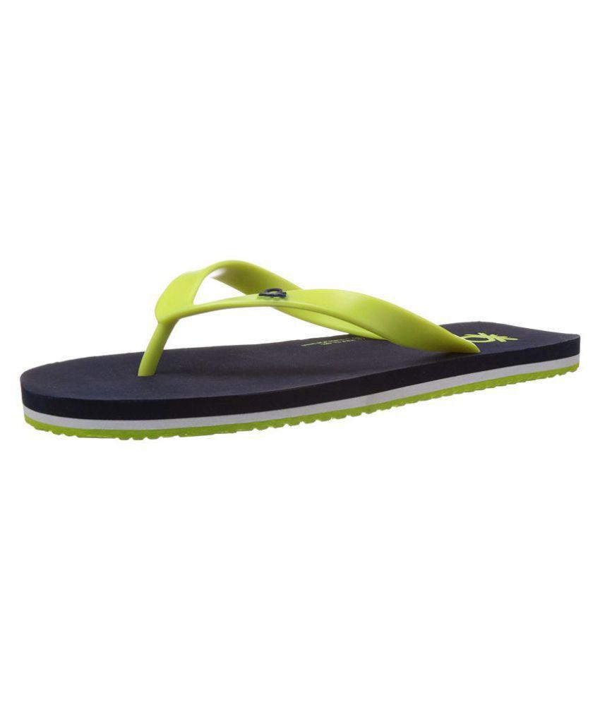 f57640afe United Colors of Benetton Navylime Blue Daily Slippers Price in ...
