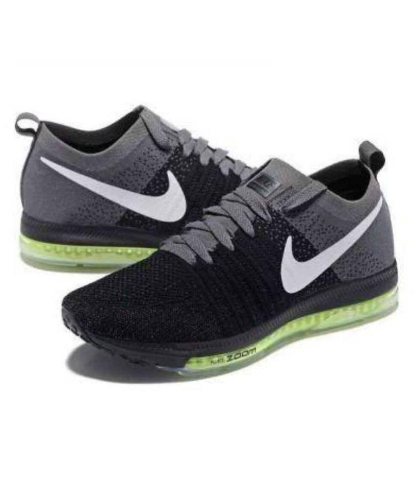 0c8020919c27f Nike zoom all out running shoe Black Running Shoes - Buy Nike zoom all out running  shoe Black Running Shoes Online at Best Prices in India on Snapdeal