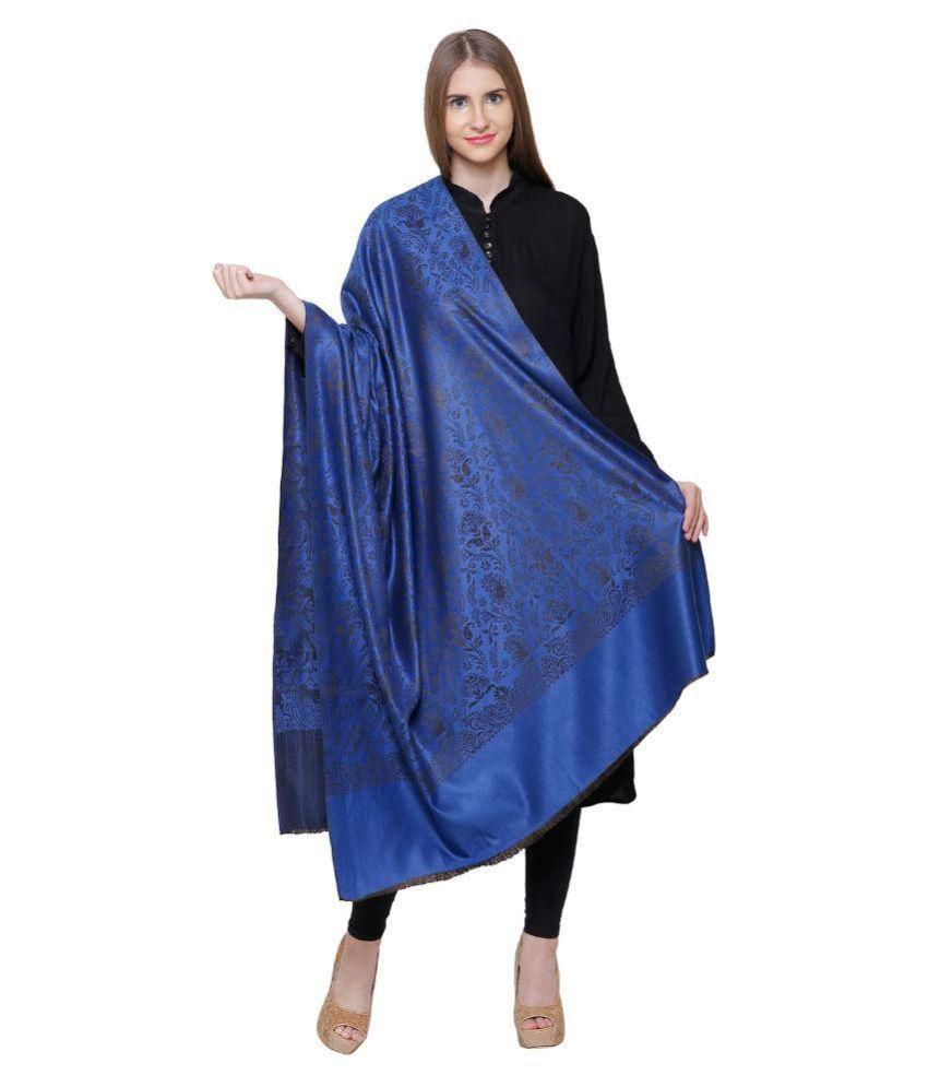 ROYAL KASHMIR Blue Kashmiri Shawl