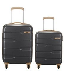VIP Black M( Between 61cm-69cm) Check-in Hard SET OF TWO PIECES SMALL & MEDIUM Luggage