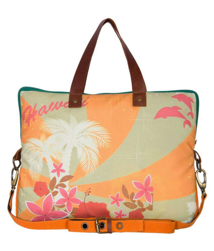 The House Of Tara Orange Laptop Bags