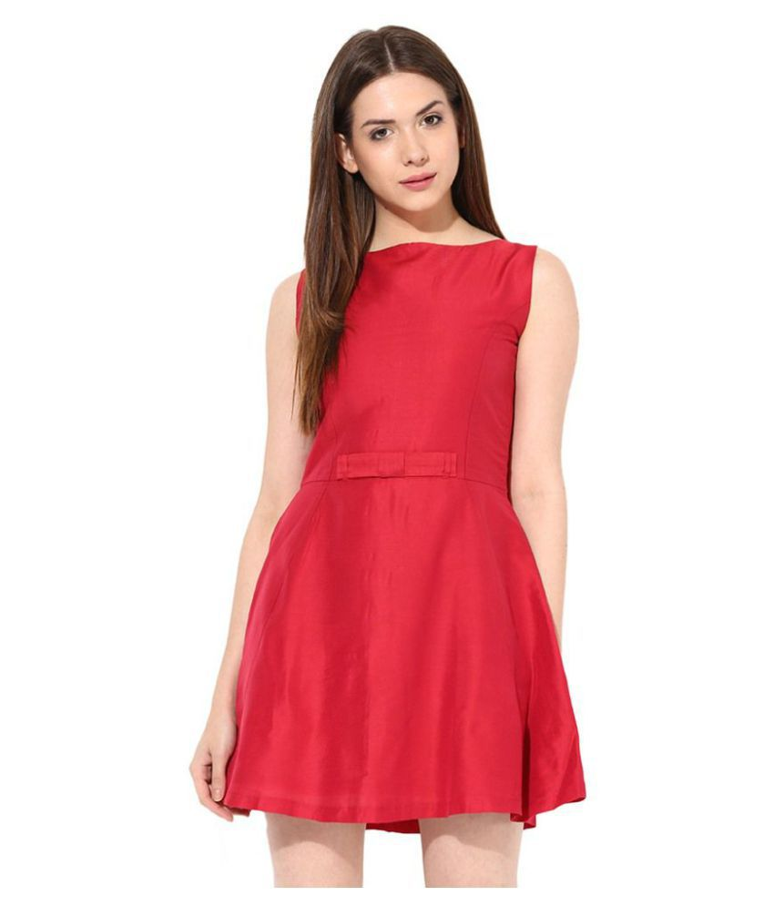 701ad8501f1b Miss Chase Polyester Red Skater Dress - Buy Miss Chase Polyester Red Skater  Dress Online at Best Prices in India on Snapdeal