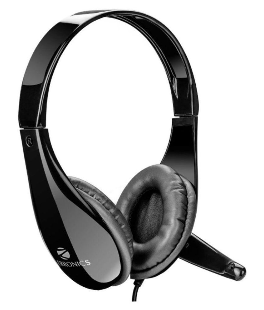 c0cde9c3898 Buy Zebronics ZEB-2200HMV Over Ear Headset with Mic Black Online at Best  Price in India - Snapdeal