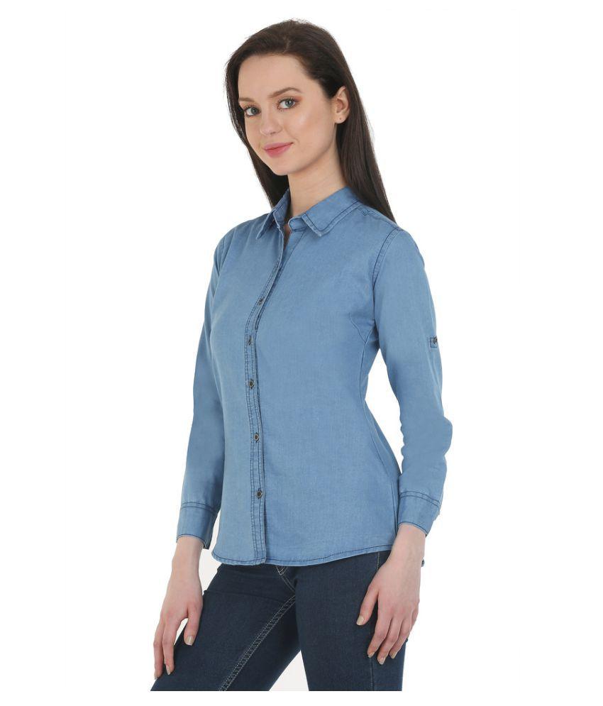 Mestara Denim Blue Shirt Dress