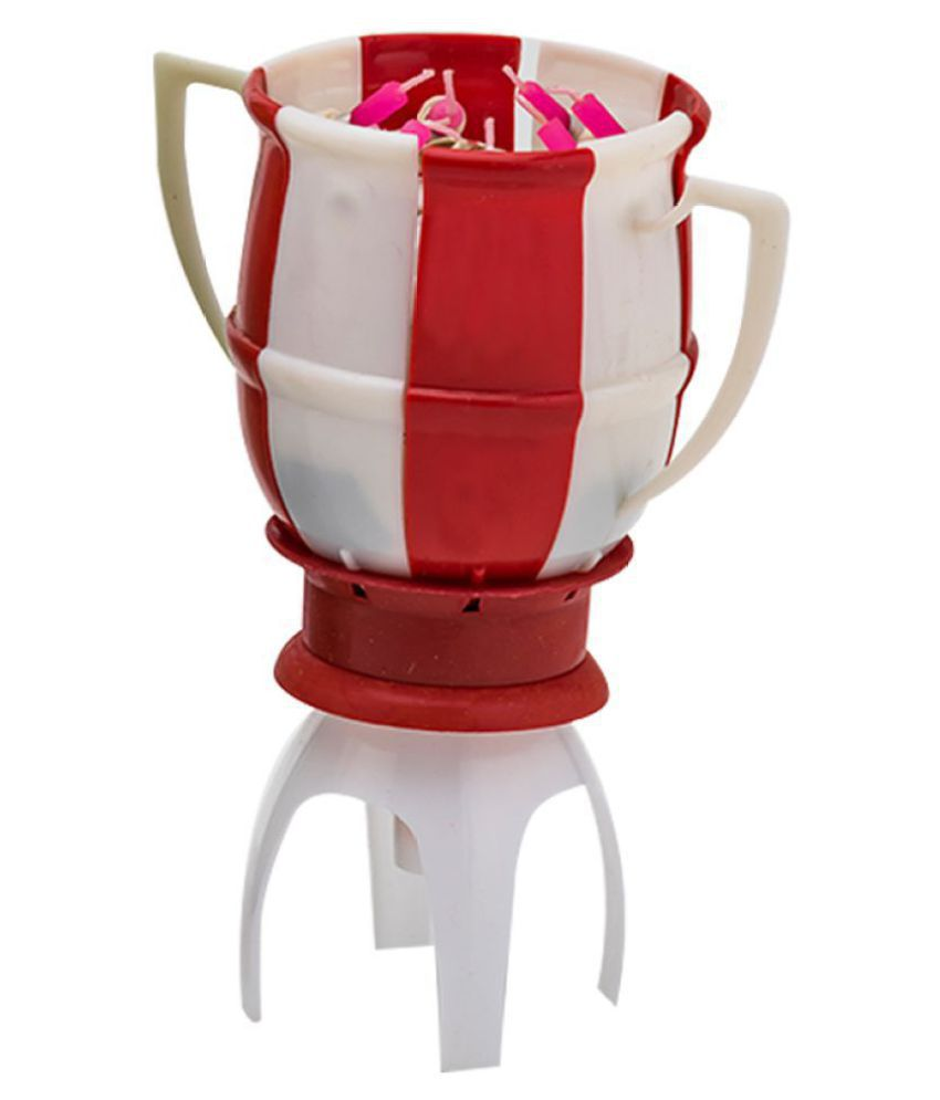 Enjoy Red & White FIFA Soccer World Cup Musical Birthday Candle (Pack Of 1)