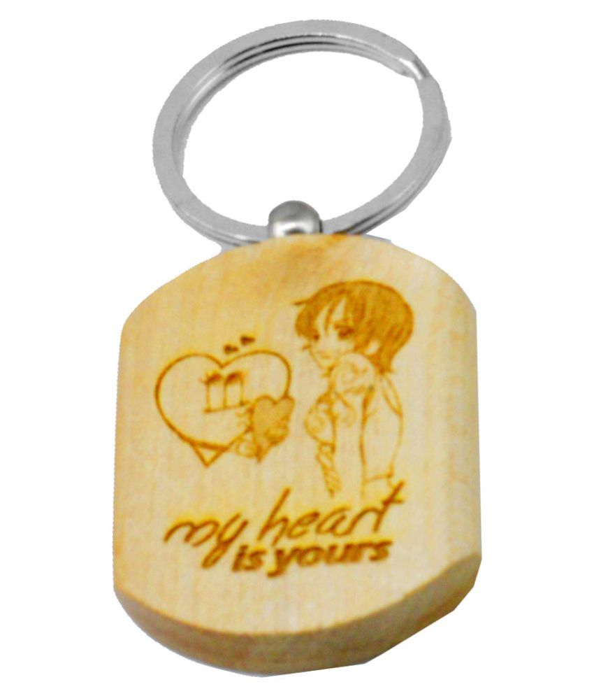 Faynci Heart love theme Valentine Day Gift Key Chain