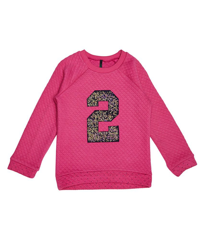 United Colors of Benetton Quilted Sweatshirt With 2 In Sequence - 16A3QT6C12AJIK20XL