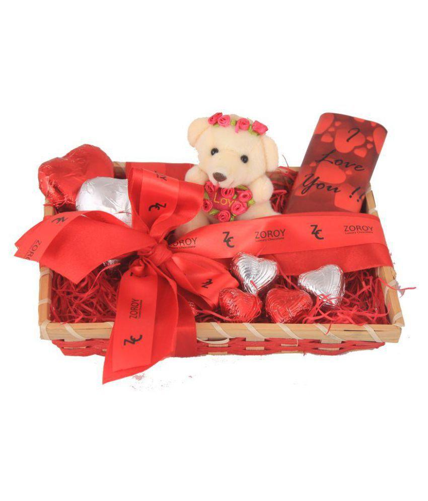Zoroy Luxury Chocolate Chocolate Basket Valentines day love Gift 100 gm