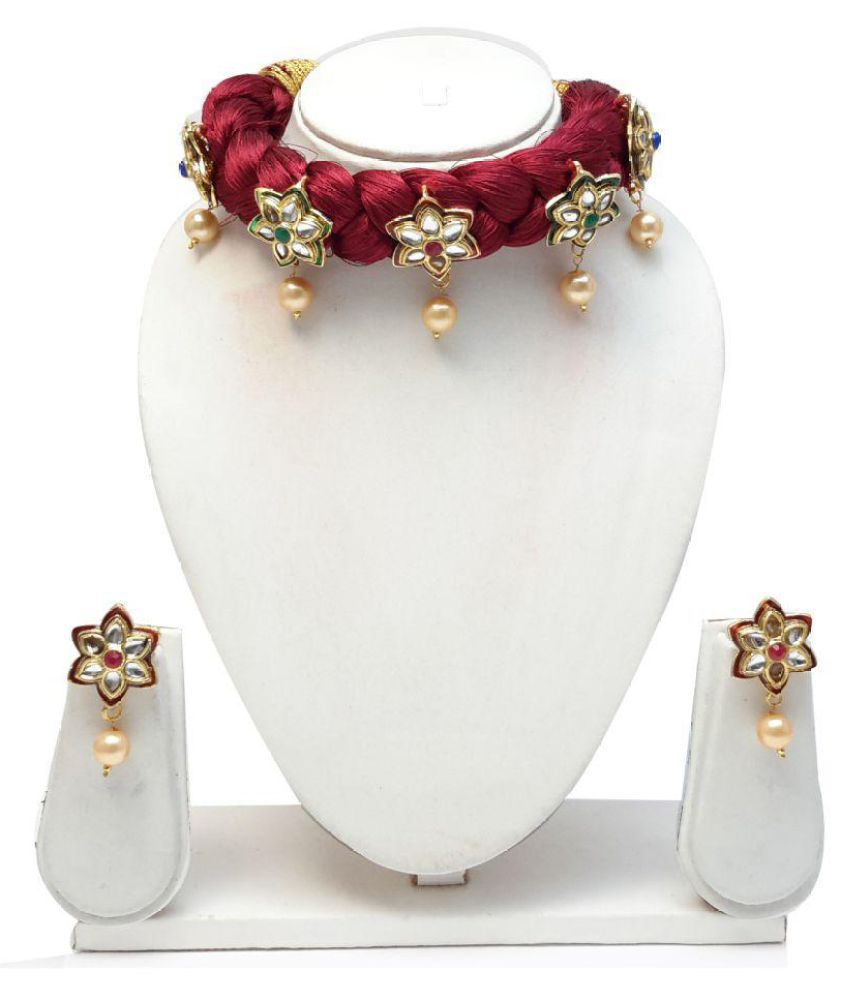 Kundan Thread Necklace Set
