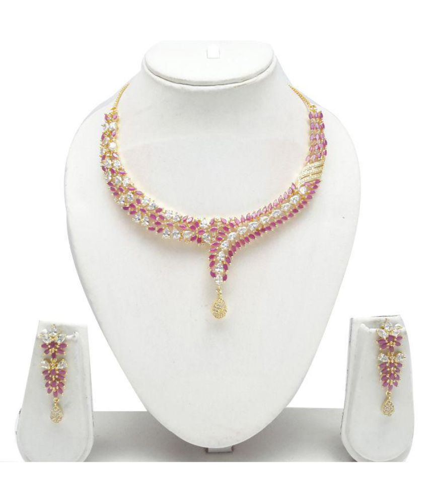 Nareiki CZ Ruby Necklace Set