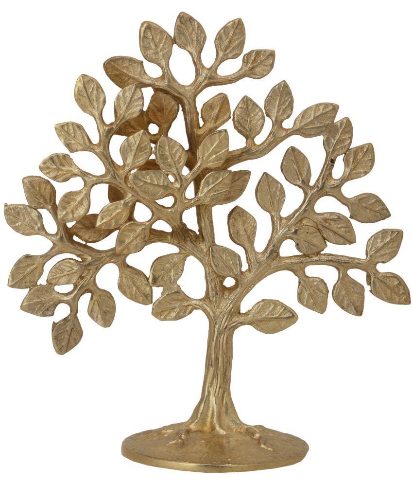 BharatHaat yellow Brass Handicraft Showpiece - Pack of 1