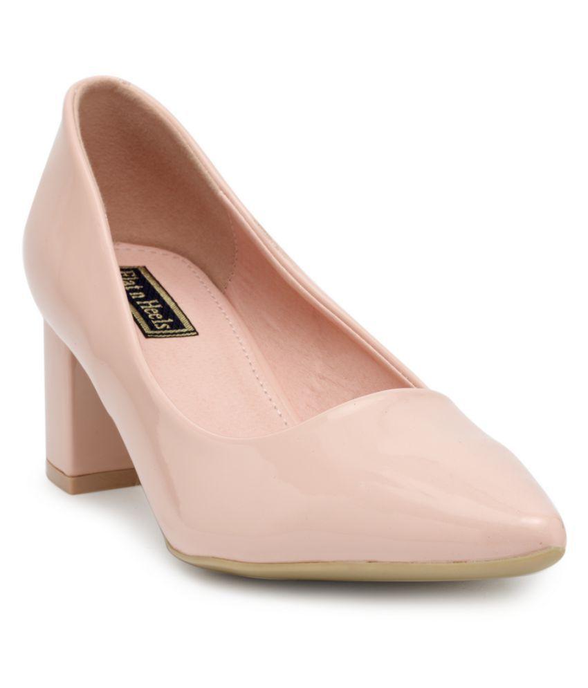 Flat n Heels Pink Block Heels