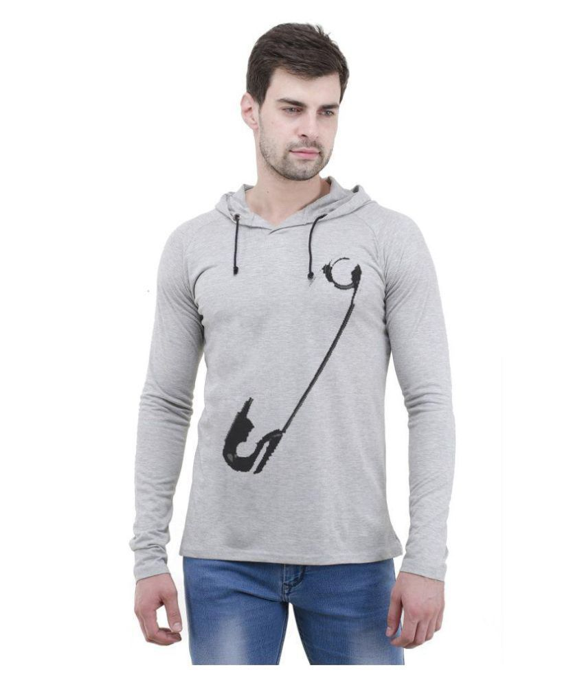 Lime Grey Hooded T-Shirt Pack of 1