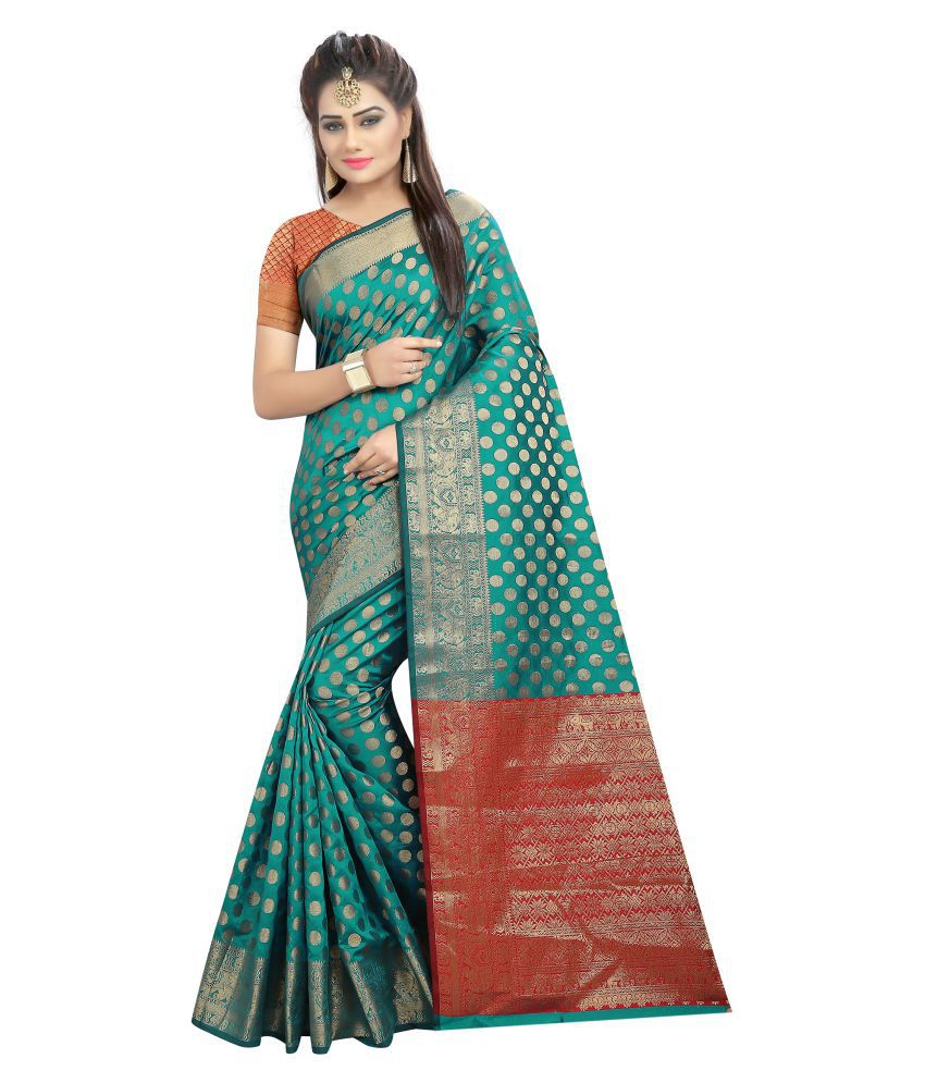 Maroosh Multicoloured Silk Saree