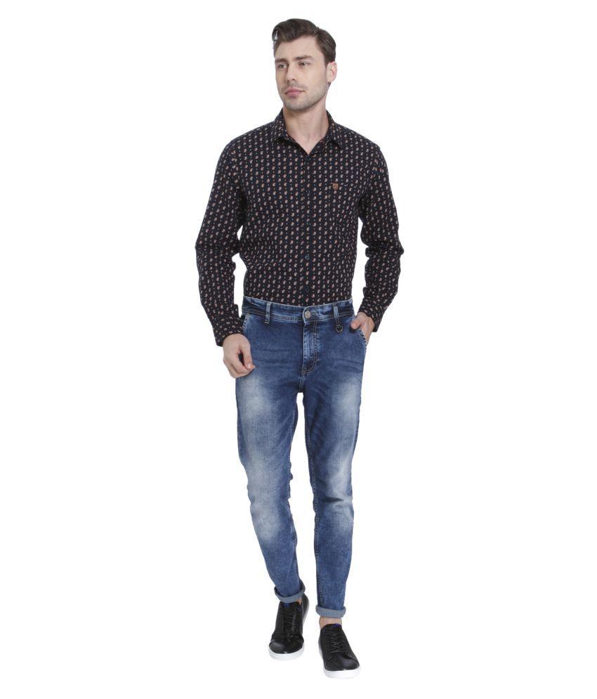 Mufti Blue Skinny Jeans