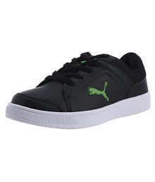 Puma Skool Jr Ind. black-poison green Lifestyle Black Casual Shoes