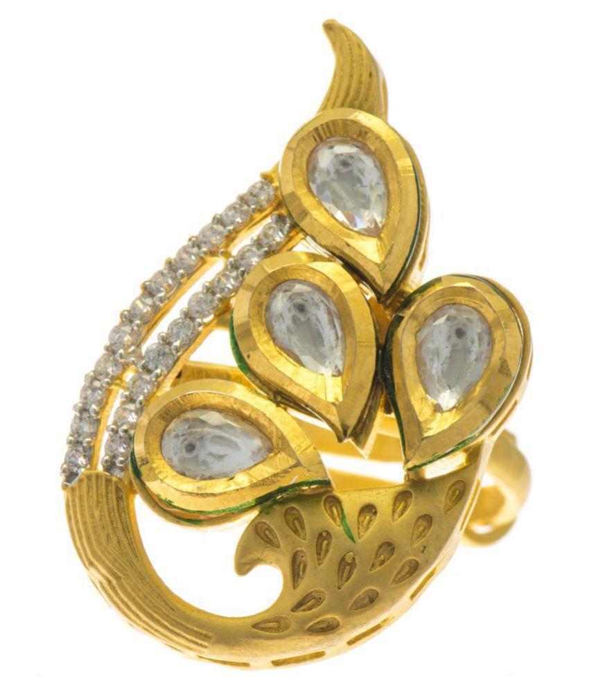 Aretha Jewels 92.5 Gold Ring