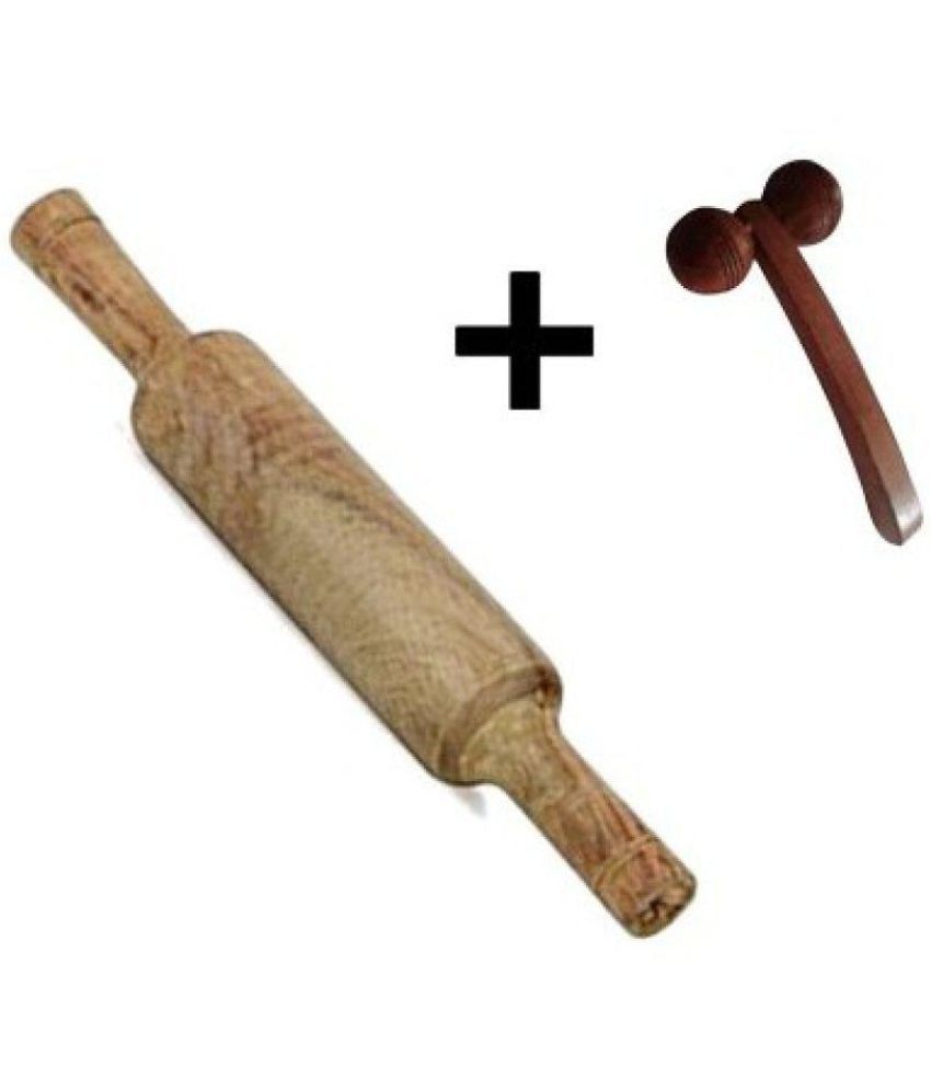 Desi karigar Wooden Rolling Pin 2 Pc