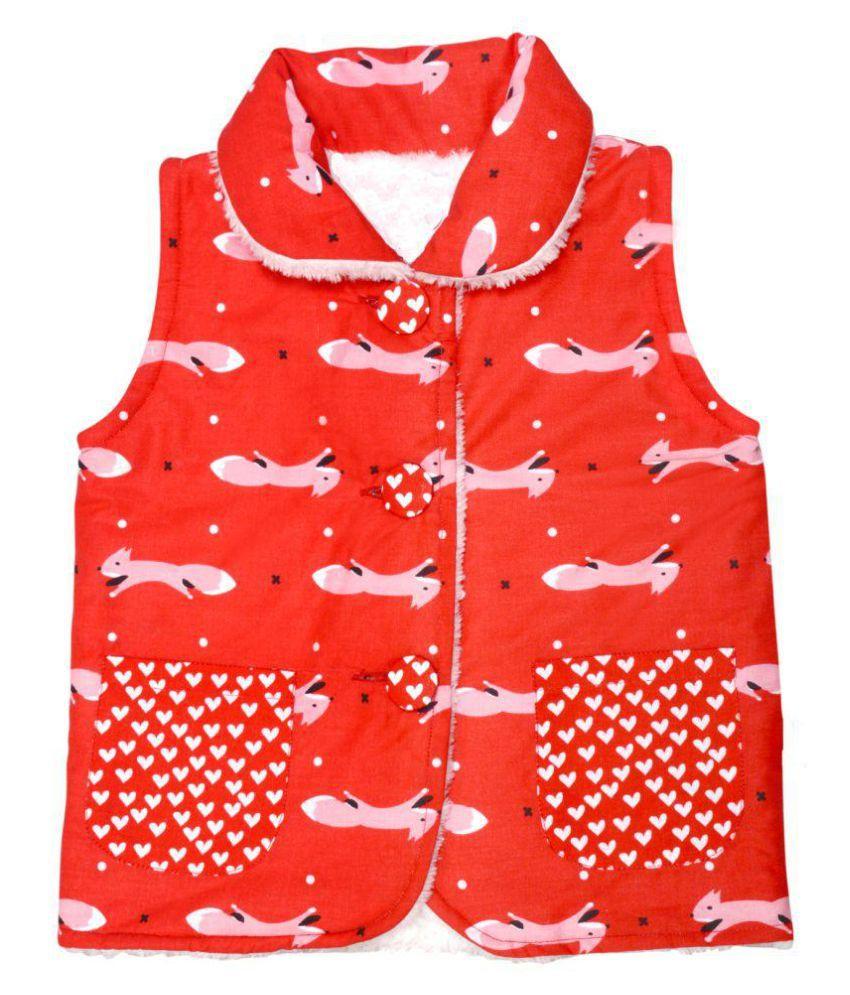 Girls Red Fox Lamby Jacket