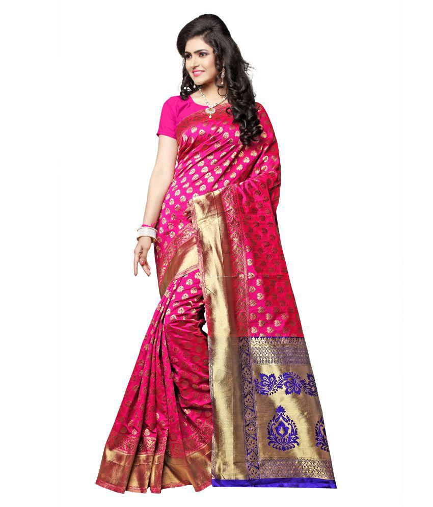 Manvaa PINK Silk Saree