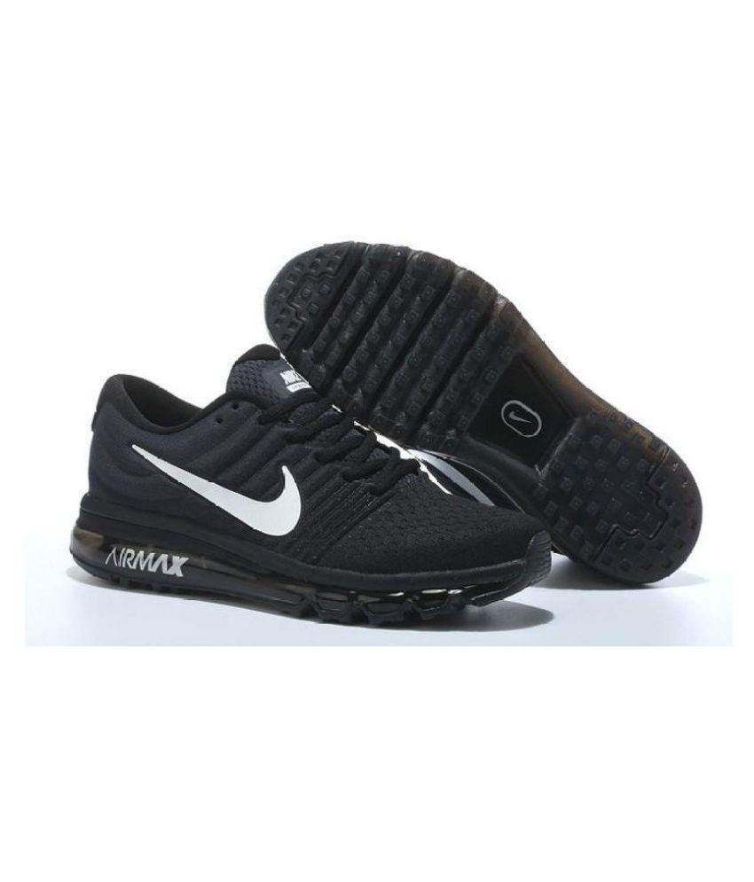 Nike Air Max 2017 Black Running Shoes ...