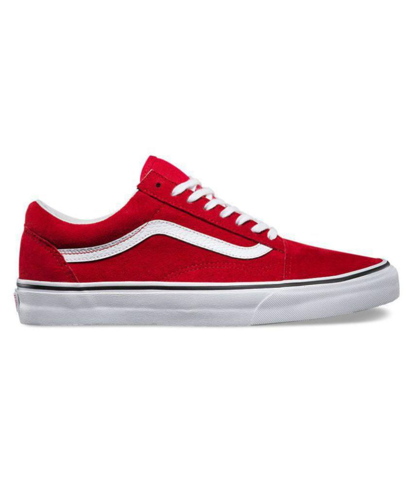 78d4bb4d876d66 VANS Old Skool Red Casual Shoes - Buy VANS Old Skool Red Casual ...